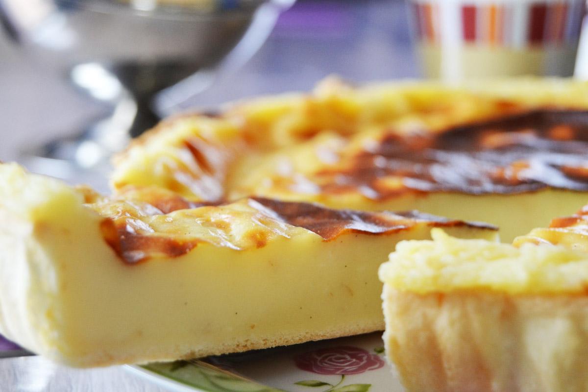 Tarte au flan pâtissier