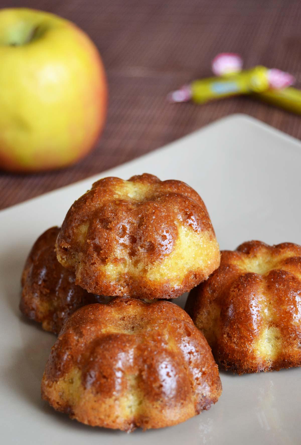 Petits Gâteaux Marbrés Carambar/pomme