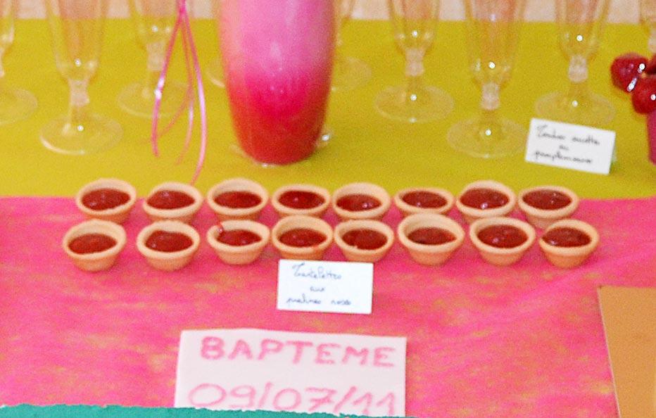 Mini-tartelettes aux pralines roses