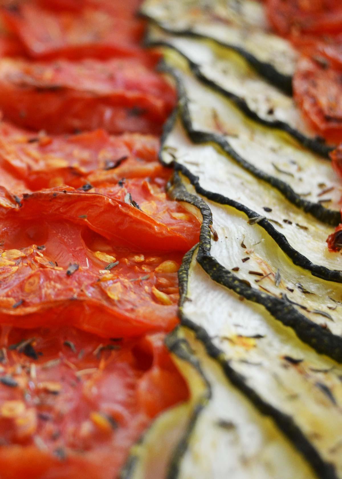 Tian tomate, courgette et fondue d'oignon - EmilieRamènesaFraise