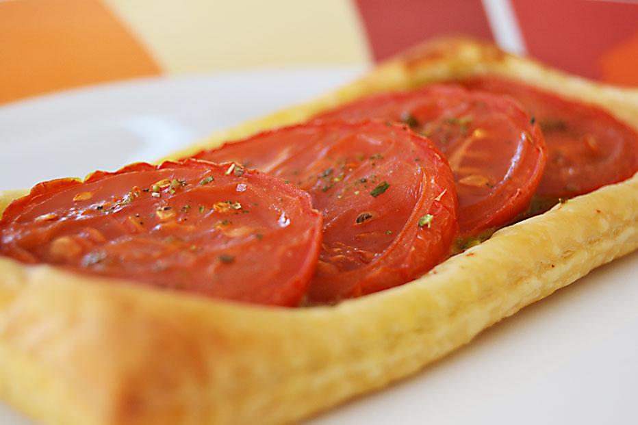 Tartelettes express tomate et pesto