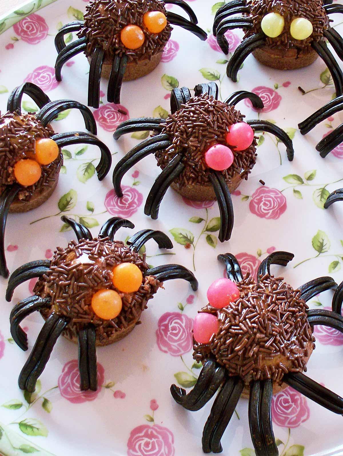 Horribles araignées pour Halloween  Emilie Ramène sa Fraise