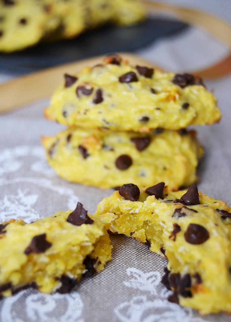 Cookies potiron, chocolat et noix de coco