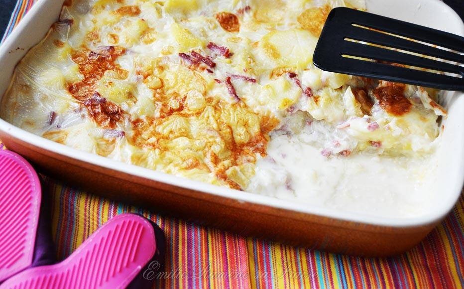 La tartiflette à la cancoillotte et au bacon