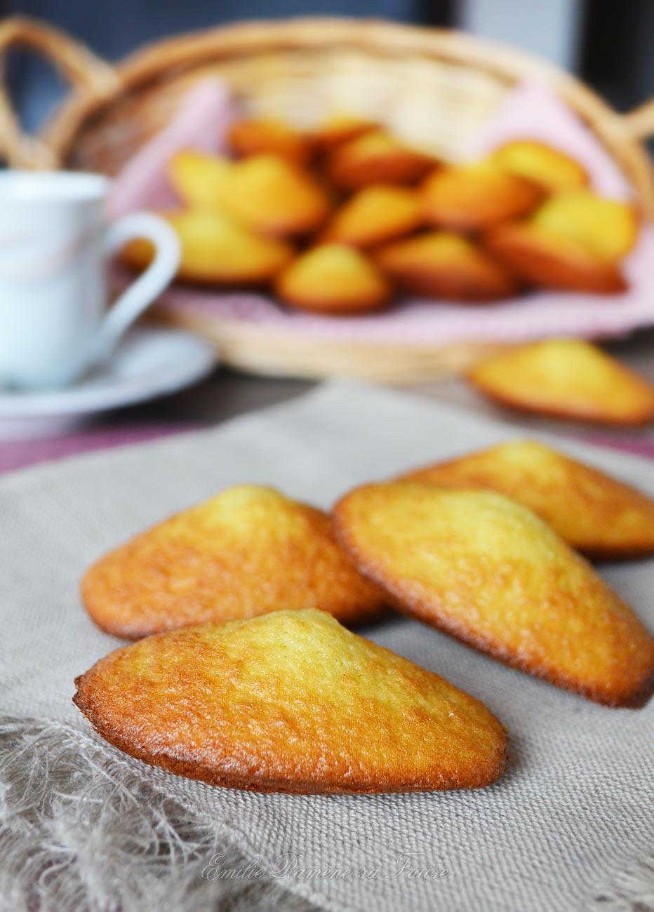 Les madeleines à la fleur d'oranger