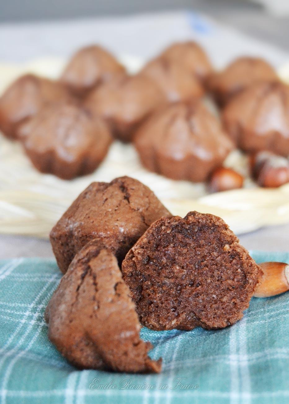 Petits gâteaux moelleux chocolat et noisettes