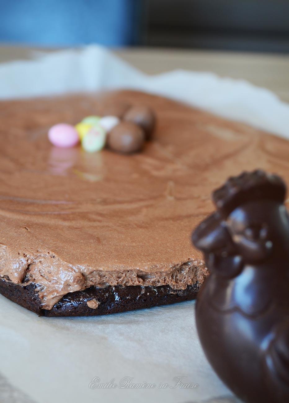 mi-mousse, mi-moelleux au chocolat