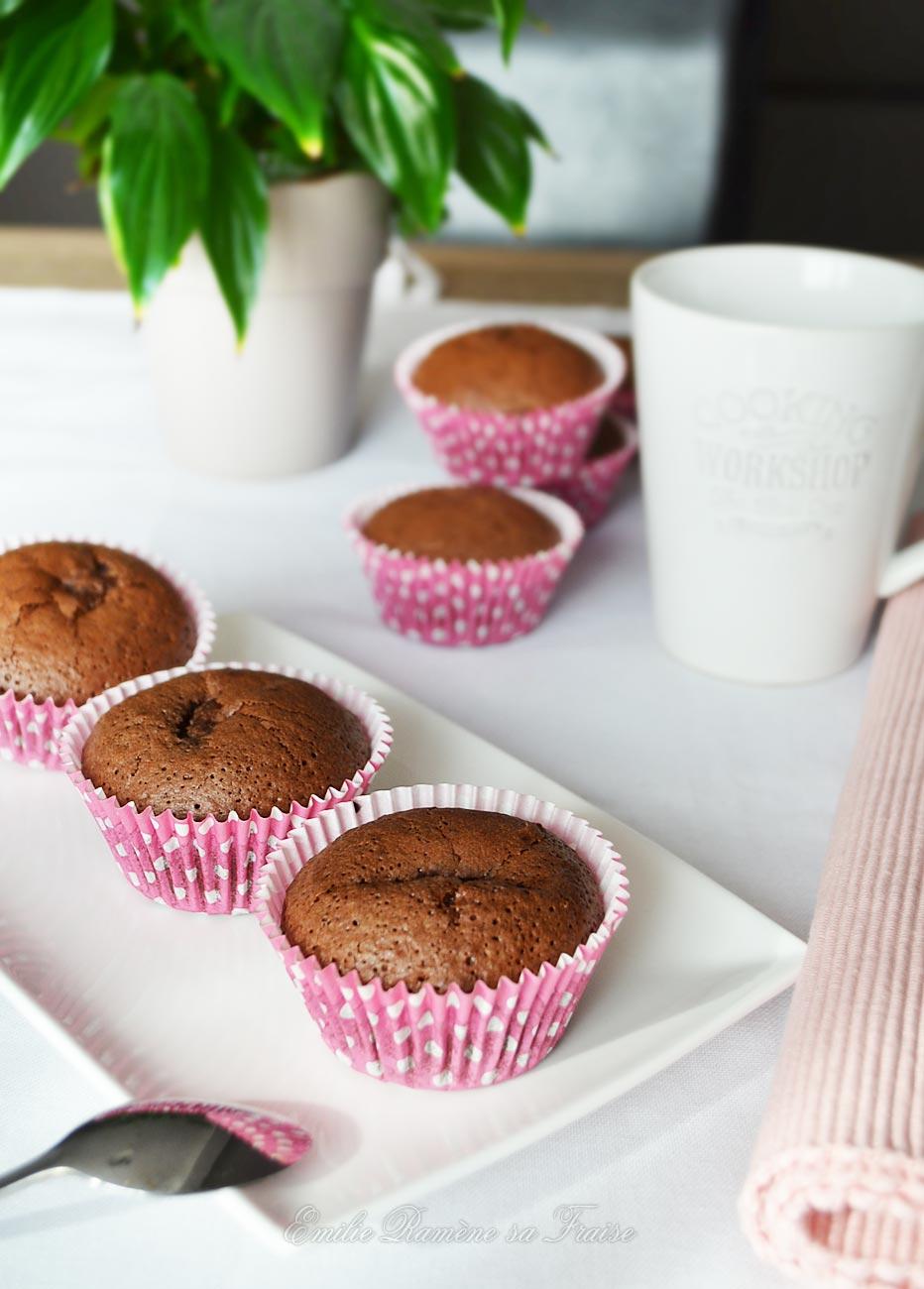 muffins chocolat-framboise