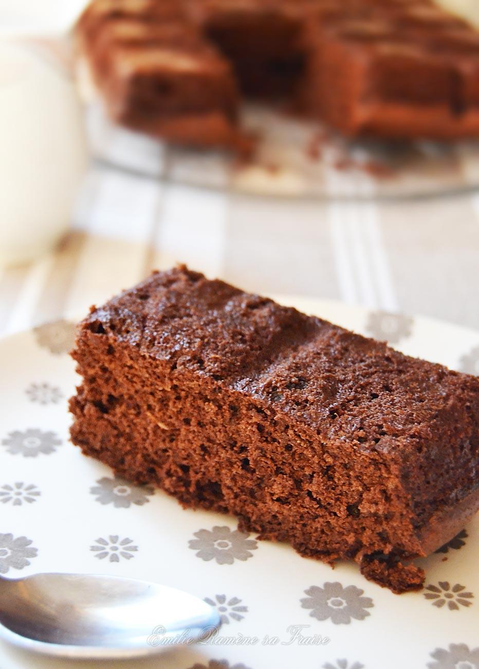 Moelleux au chocolat et à la courgette