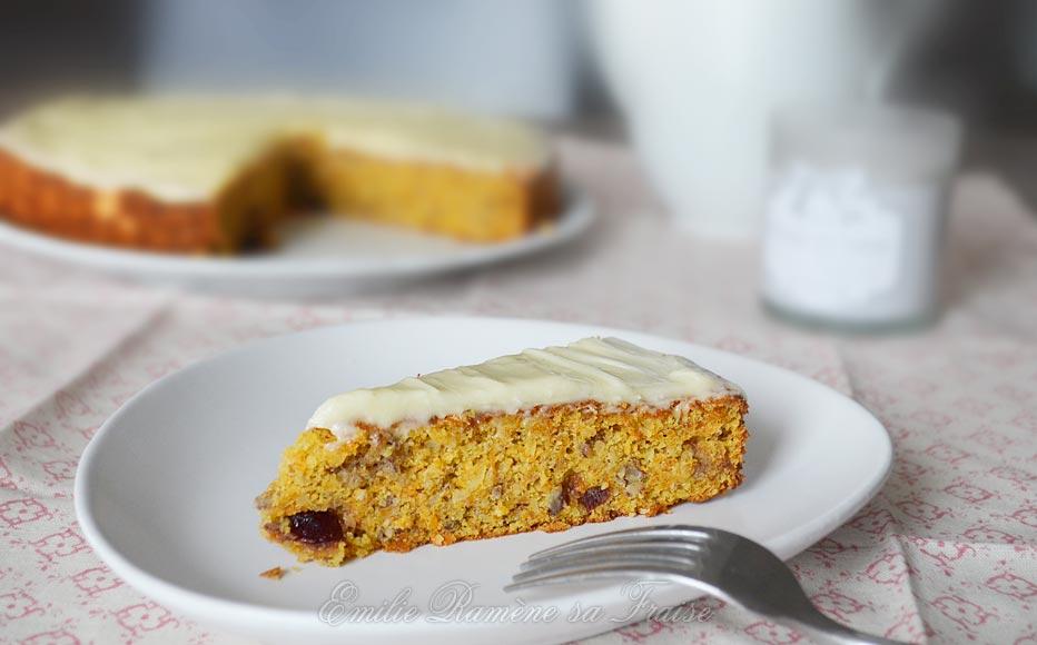 Carrot cake de Noël, glaçage cream cheese
