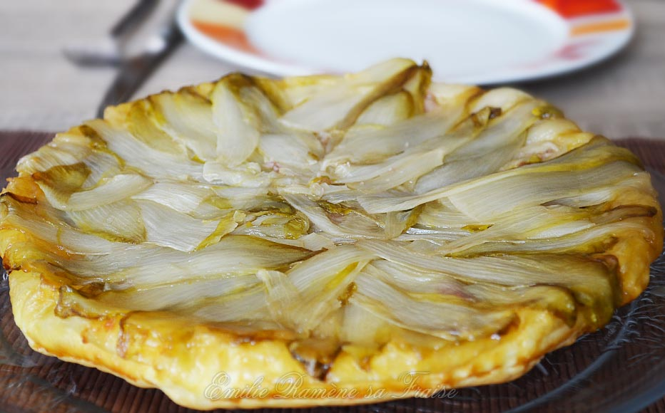 tatin d'endives aux marrons
