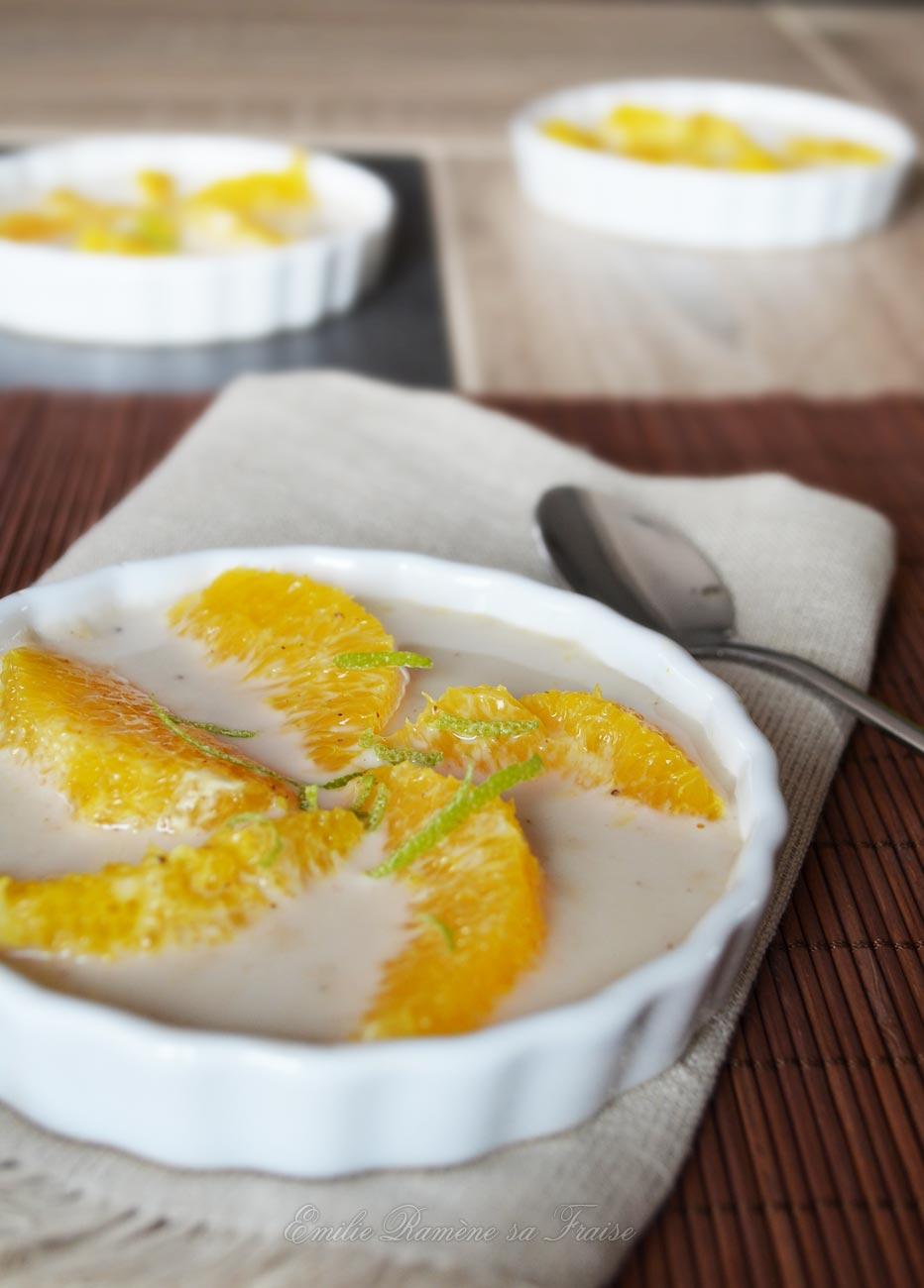 Suprème d'orange au lait de coco